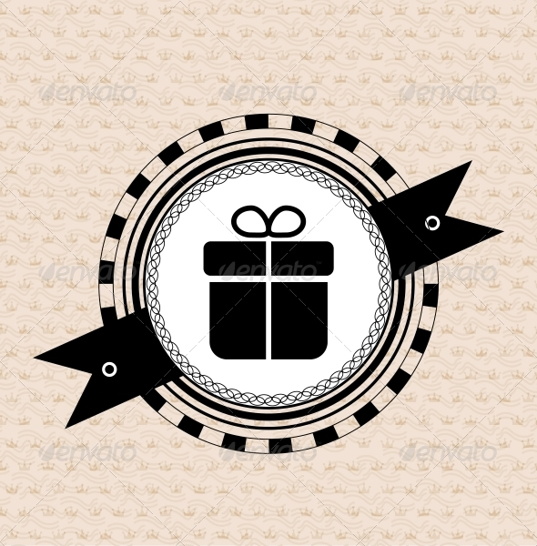 Vintage retro label | tag | badge : gift icon - Web Elements Vectors