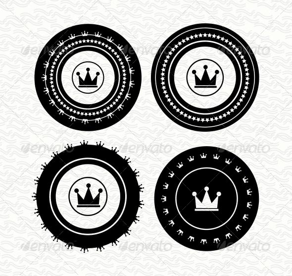 Vintage retro empty labels | badges | stamps. Vect - Web Elements Vectors