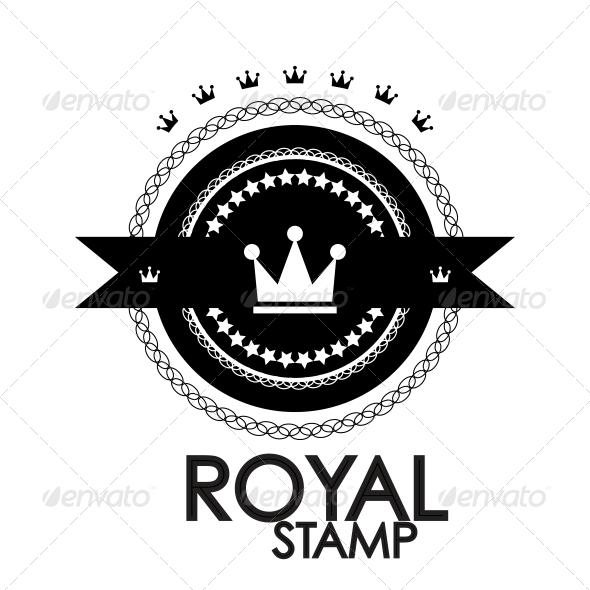 Black retro vintage label | tag | badge | royal st - Web Elements Vectors