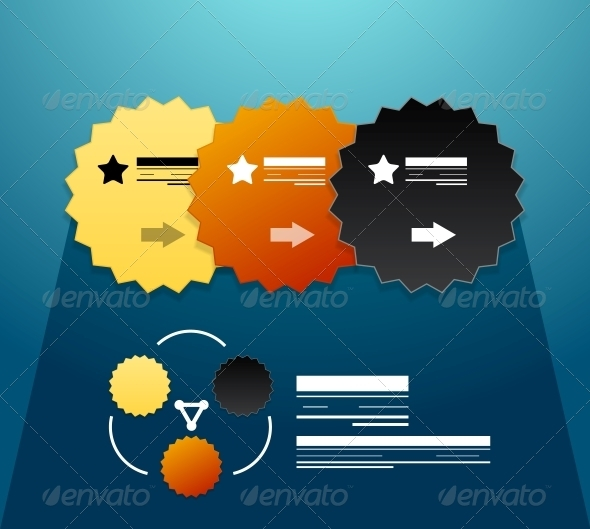 Modern infographic elements: steps stickers - Backgrounds Decorative