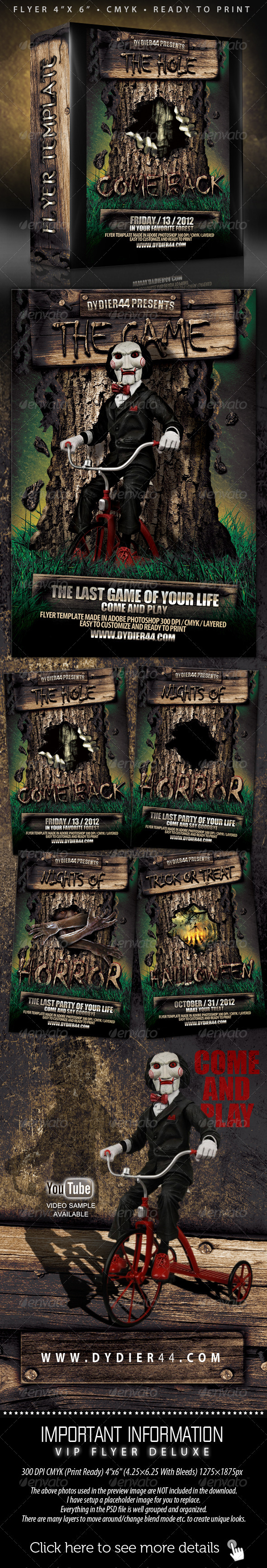 Scary Flyer Template (Flyer Template 4x6) - Clubs & Parties Events