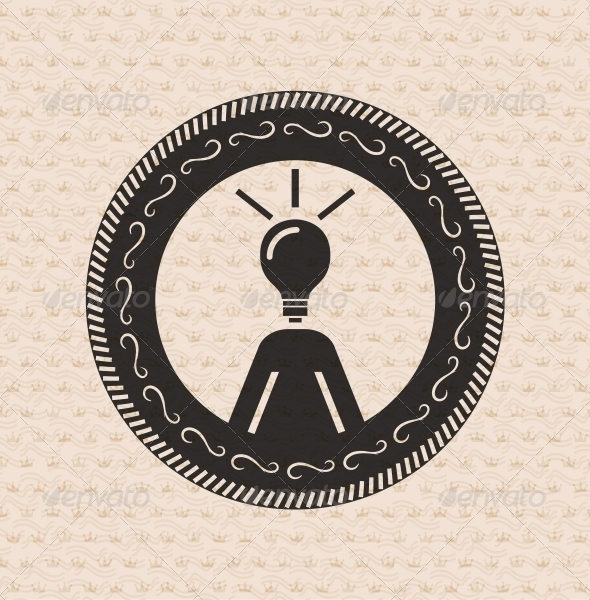 Vintage retro label | tag | badge : human ideas ,  - Web Elements Vectors