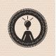 Vintage retro label | tag | badge : human ideas ,  - GraphicRiver Item for Sale