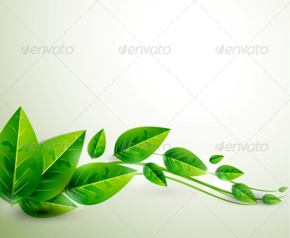 Nature green leaves | Vector flying leaves abstrac - Backgrounds Decorative