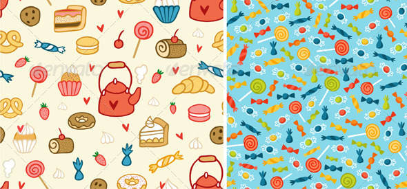 Sweets And Treats Patterns - Patterns Decorative