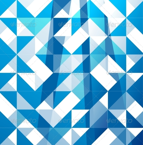Blue Modern Geometric Design Background - Backgrounds Business