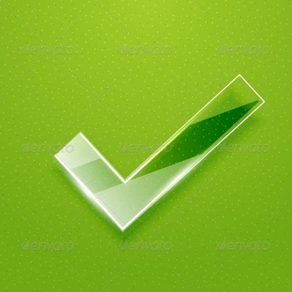 Check on Green Background - Concepts Business
