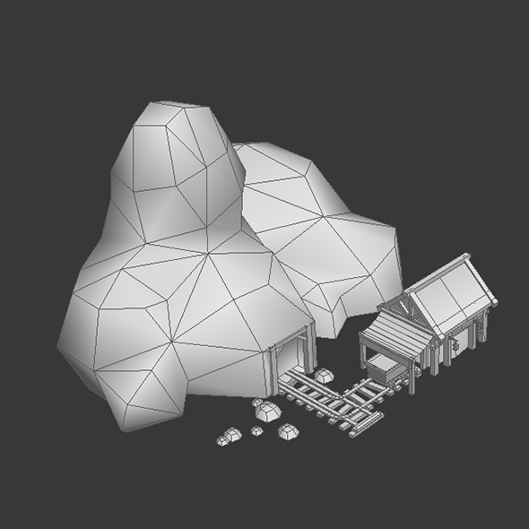 Gold Mine Low Poly By Playdesign 3docean