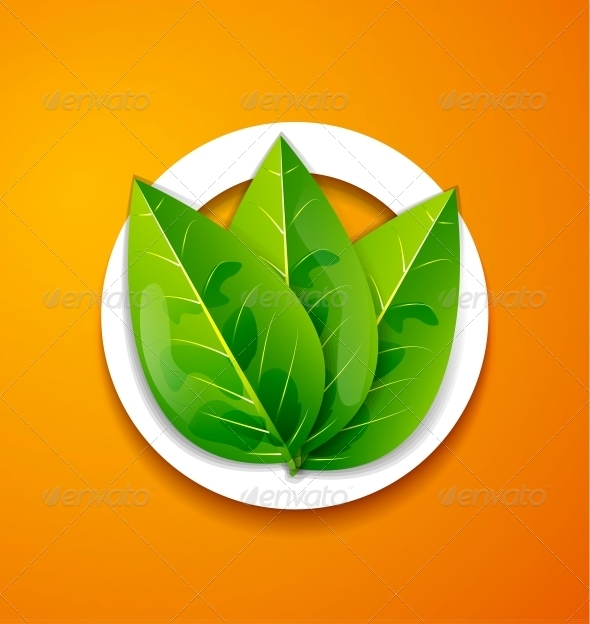 Nature Applique Background - Green Leaves - Flowers & Plants Nature