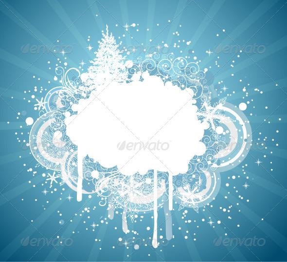 Winter Grungy Background - New Year Seasons/Holidays