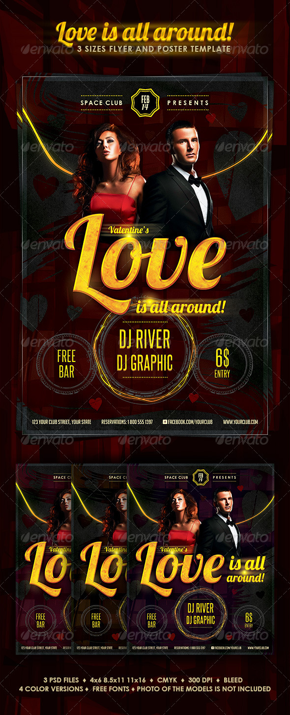 Valentine's Love Is All Around Party - Clubs & Parties Events