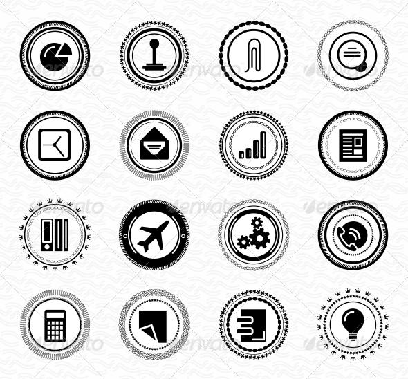 Vintage Retro Business Labels and Badges - Web Elements Vectors