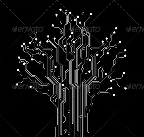 circuit board tree abstract background by silvertiger graphicriver