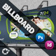Fitness Salon Bilboard Roll-Up - GraphicRiver Item for Sale