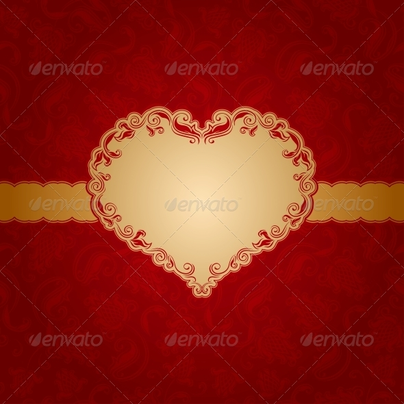 Template frame design for greeting card . - Valentines Seasons/Holidays