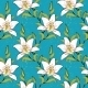 white lilies, romantic, summer pattern - GraphicRiver Item for Sale