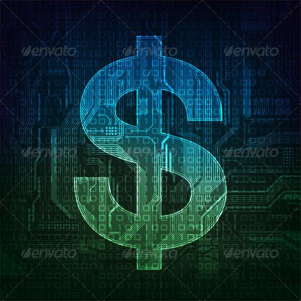 Dollar - Abstract Conceptual