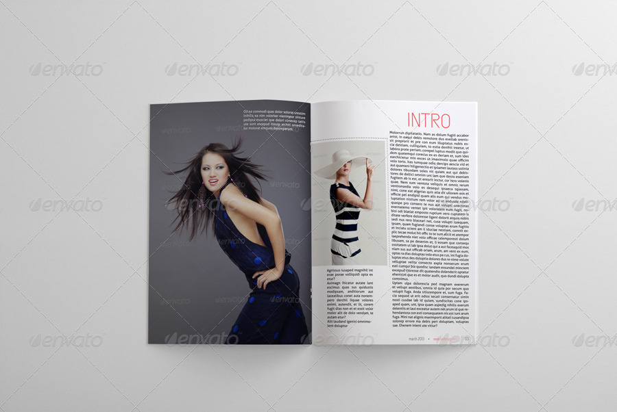 24 pages fashion magazine template by bagera