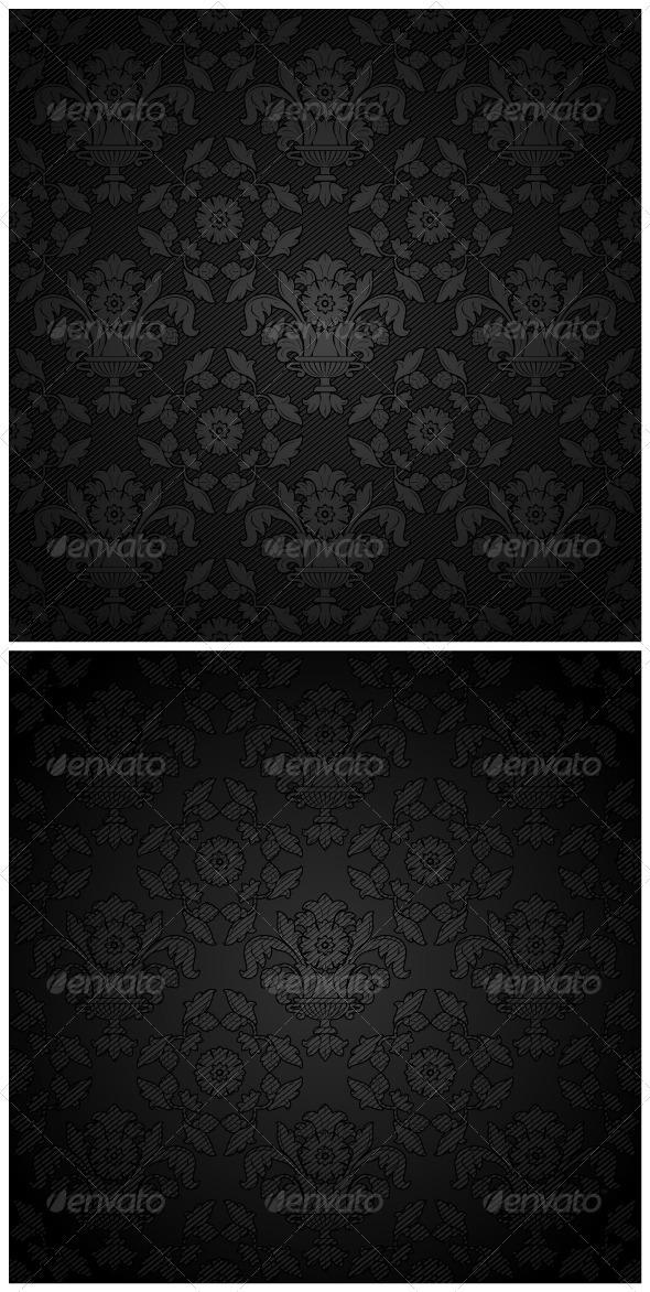Corduroy Background - Black Ornament - Backgrounds Decorative