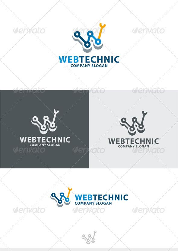 Web Technic Logo - Letters Logo Templates