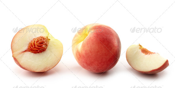 fresh peaches - Stock Photo - Images
