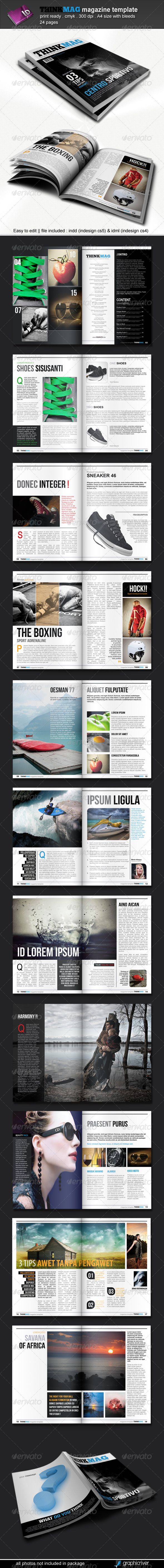 Thinkmag Magazine Template - Magazines Print Templates
