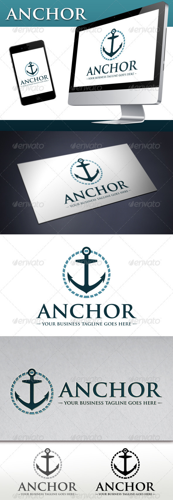 Marine Anchor Logo - Objects Logo Templates