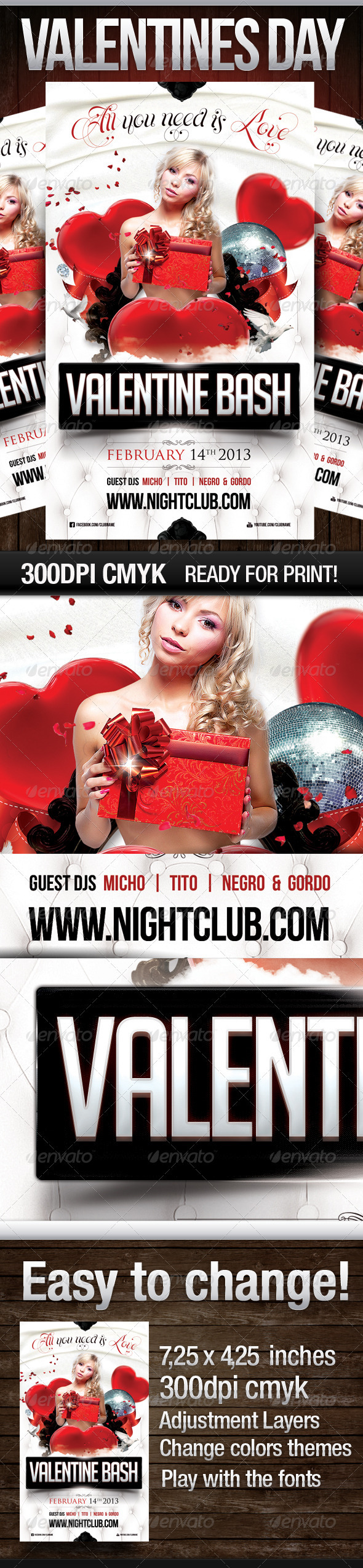Valentines Day 2013 - Clubs & Parties Events