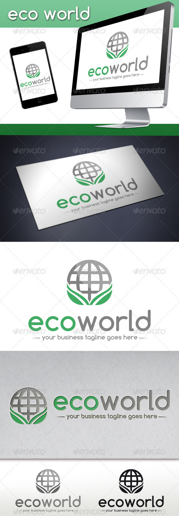 Eco World Logo Template - Nature Logo Templates