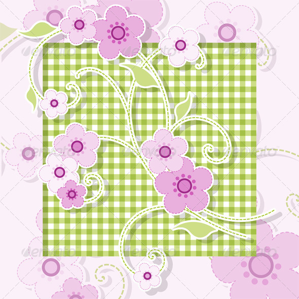 Pink Flowers - Backgrounds Decorative