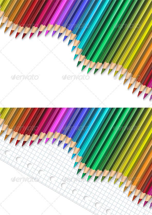 Pencils - Backgrounds Decorative