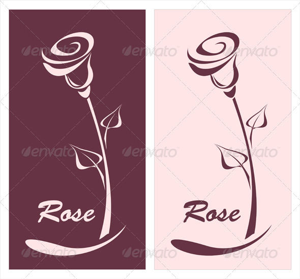 Rose for logotype something or style post card - Decorative Vectors
