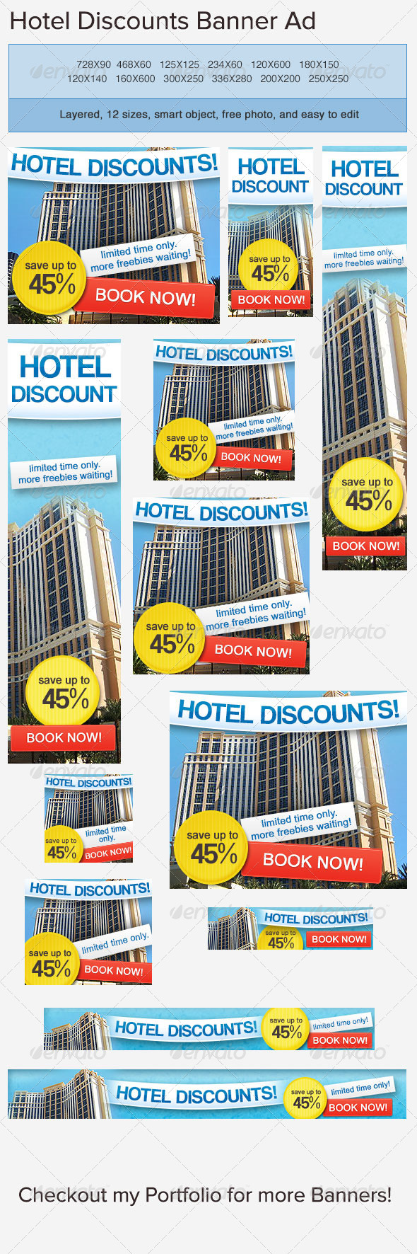 Hotel Accommodation Banner Ad - Banners & Ads Web Elements