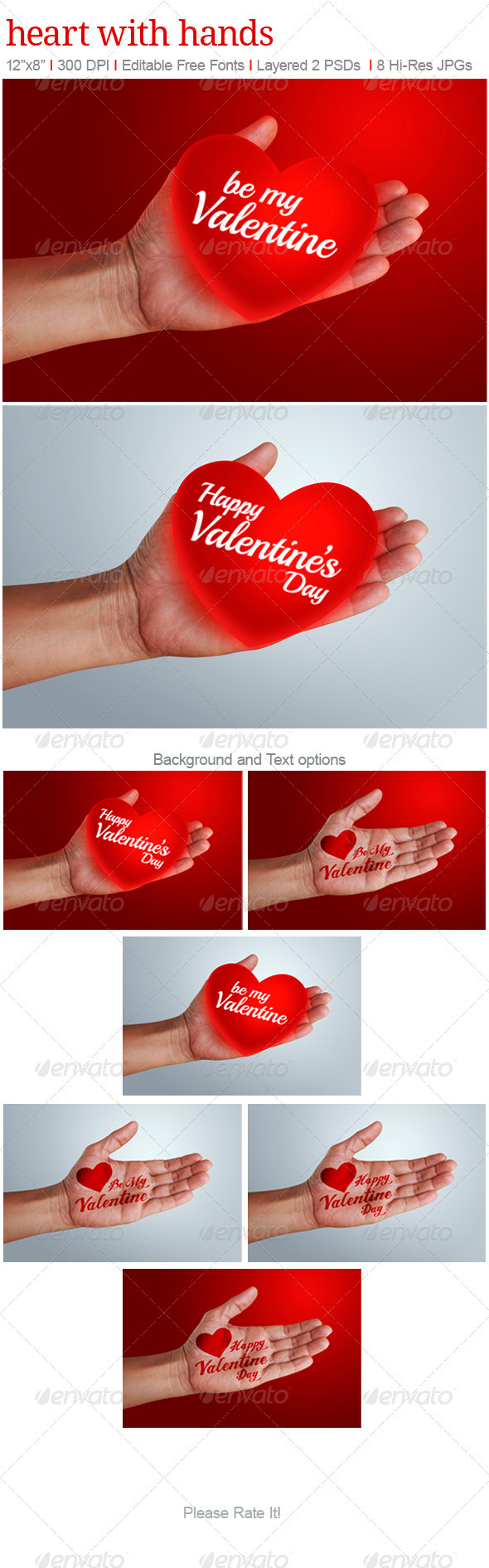 Heart with Hands - Backgrounds Graphics
