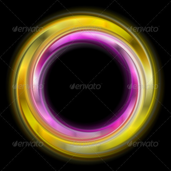 Colourful abstract rings. Vector logo - Backgrounds Decorative