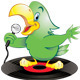 Green Karaoke Parrot - GraphicRiver Item for Sale