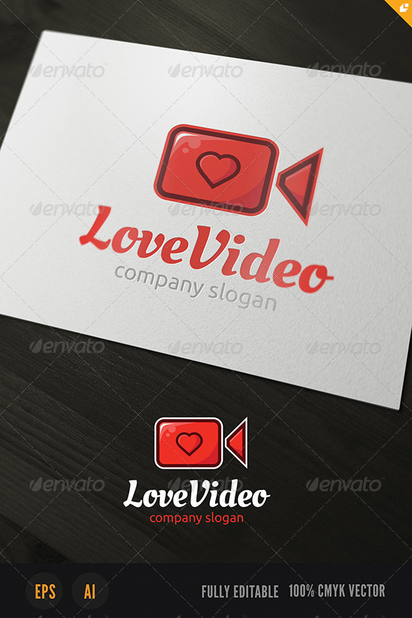 Love Video Logo - Objects Logo Templates