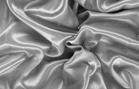 Grey Satin - Fabric Textures