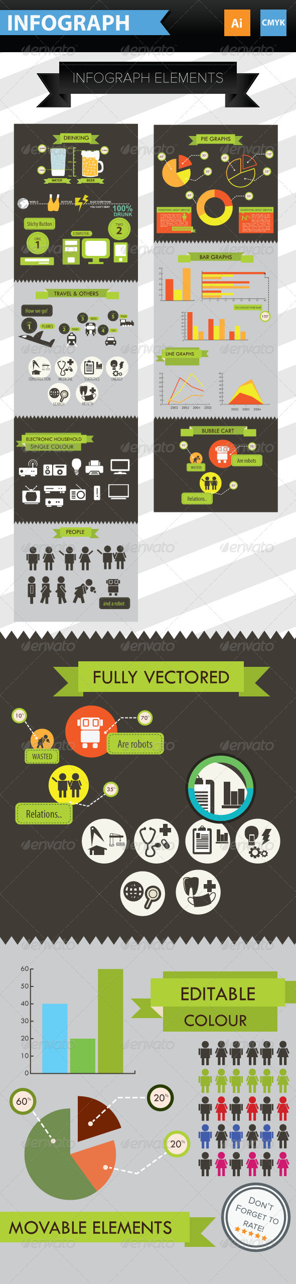 Infographic Elements + Icons - Infographics