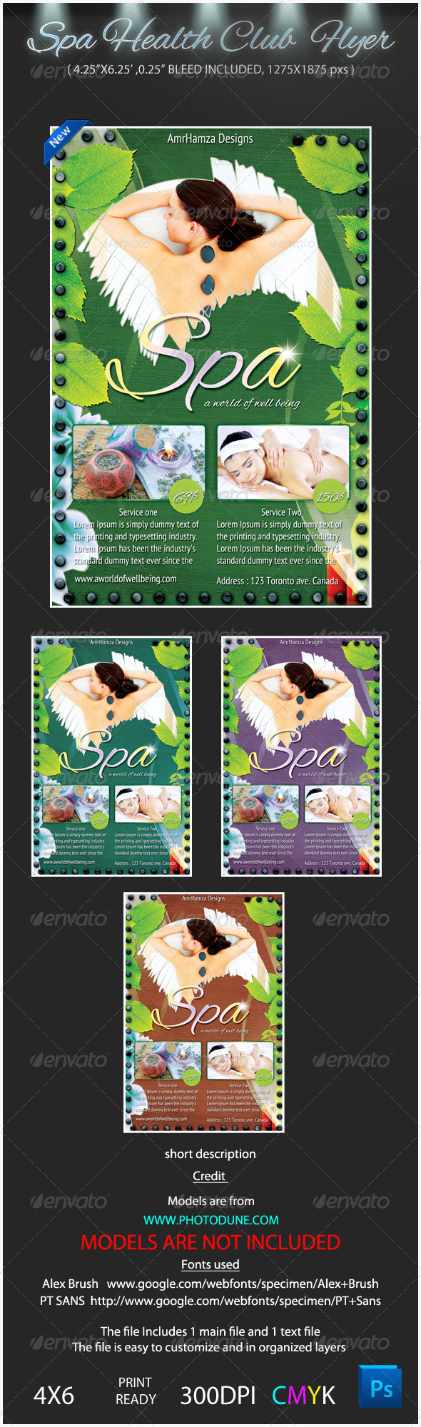 Spa Health club Flyer Template - Corporate Flyers