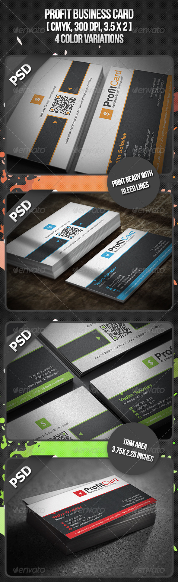 Profit Business Card - Corporate Business Cards