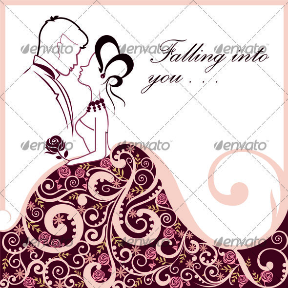 Classic Wedding Couple - Vectors