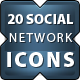Awesome Social Network Icons - GraphicRiver Item for Sale