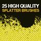 25 Splatter Photoshop Brushes - GraphicRiver Item for Sale