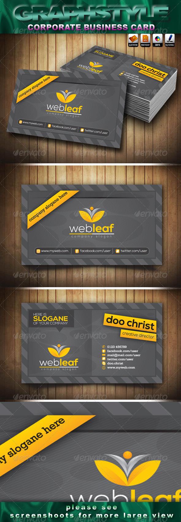 Webleaf Corporate Business Card - Creative Business Cards