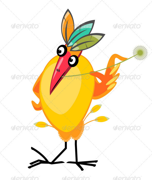 Exotic Bird Character - Characters Vectors