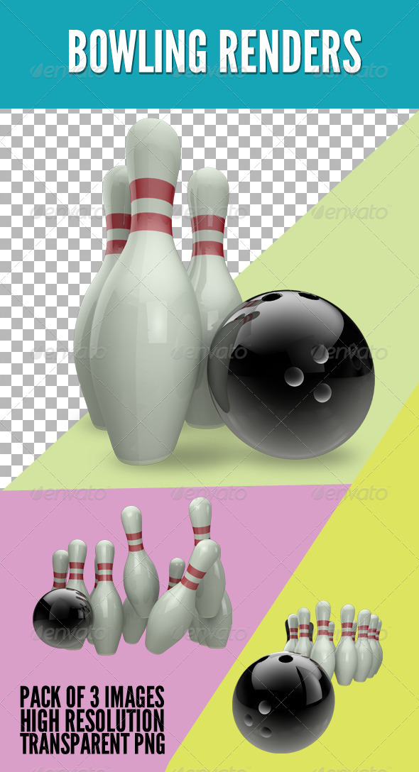Bowling Set - Objects 3D Renders