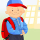Vector of the little boy goes to schooll - GraphicRiver Item for Sale
