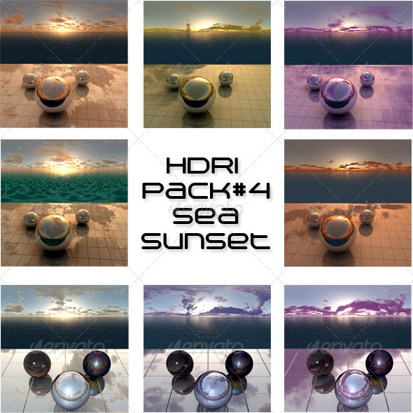 Pack 4 - Sea Sunset - 3DOcean Item for Sale