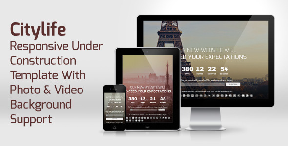CityLife – Responsive Under Construction Template